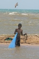 Garufina boy fishing in Dangriga